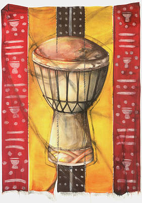 Mixed Media - Drum by Anthony Burks Sr