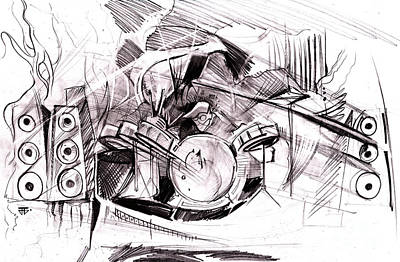 Painting - Drum Art by John Jr Gholson