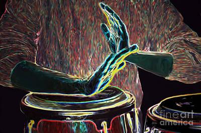 Painting - Drum Beat Heat by Haleh Mahbod