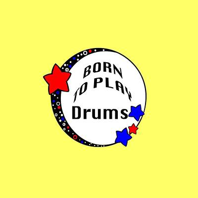 Photograph - Drum Born To Play Drum 5672.02 by M K Miller