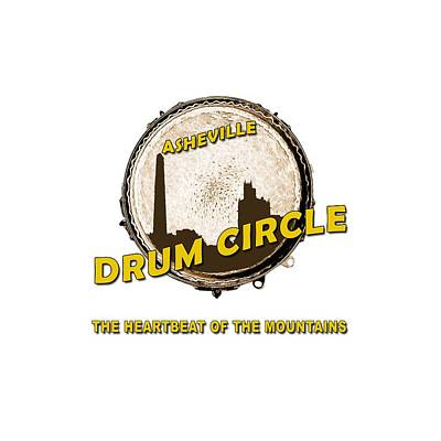 Digital Art - Drum Circle Logo by John Haldane
