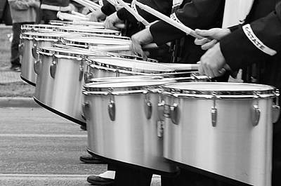 Marching Band Photograph - Drum Line by Linda Benoit