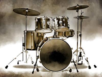 Photograph - Drum Set Art II by Athena Mckinzie