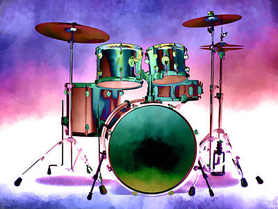 Photograph - Drum Set Art IIi by Athena Mckinzie