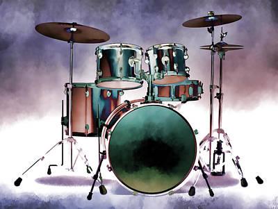 Photograph - Drum Set Artistic by Athena Mckinzie