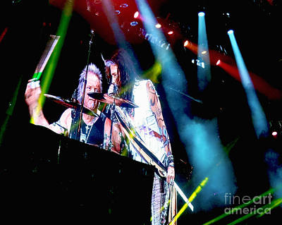 Aerosmith Photograph - Drum Solo. Aerosmith Live  by Tanya Filichkin