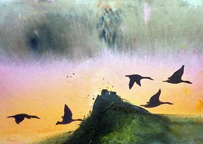 Lake Lucerne Art Print by Ed  Heaton