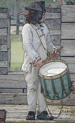 Diane Digital Art - Drummer Boy by Diane E Berry