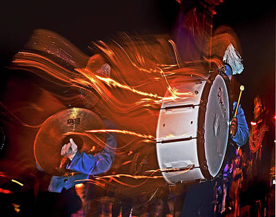 Marching Band Photograph - Drummer  by Calvin Wehrle
