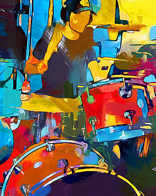 Music Paintings - Drummer by Chris Butler