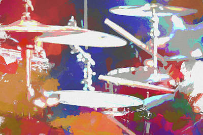 Music Mixed Media - Drummer by Dan Sproul