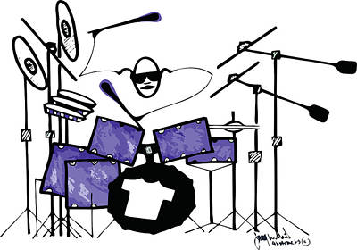 Drawing - Drummer by Jimmy Williams