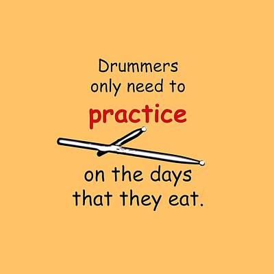 Photograph - Drummers Practice When The Eat by M K Miller