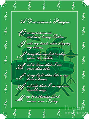 Drummers Prayer_1 Art Print by Joe Greenidge