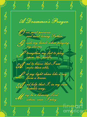 Drummers Prayer_2 Art Print by Joe Greenidge