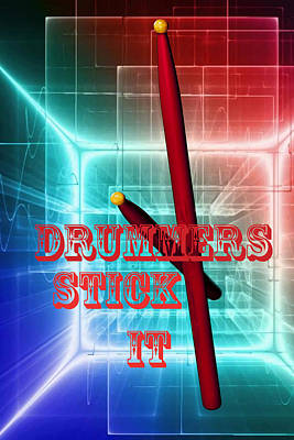 Photograph - Drummers Stick It 2 by M K Miller