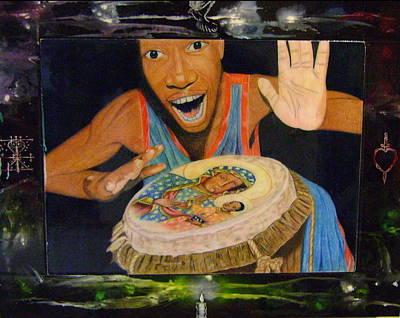 Drumming Art Print by Neg Ayiti