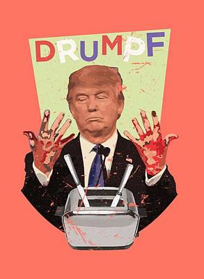 Toaster Digital Art - Drumpf by Jonah Van Dongen