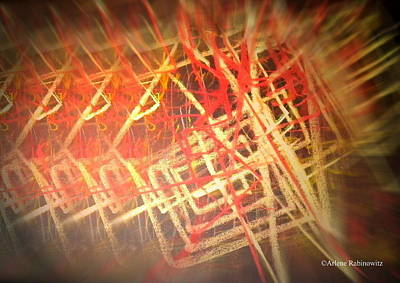 Synesthesia Drawing - Drums Bass Series by Arlene Rabinowitz