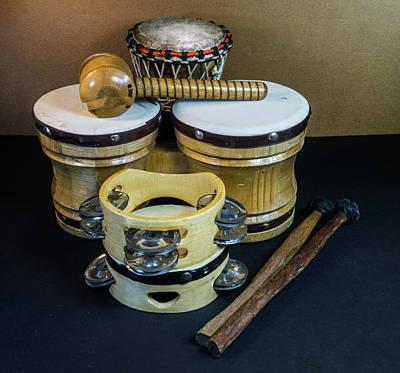 Photograph - Drums Drumsticks And Tamborines by Douglas Barnett