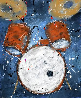 Digital Art - Drums On Blues by Eduardo Tavares