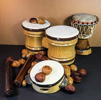 Photograph - Drums Tamborine And Buckeyes by Douglas Barnett