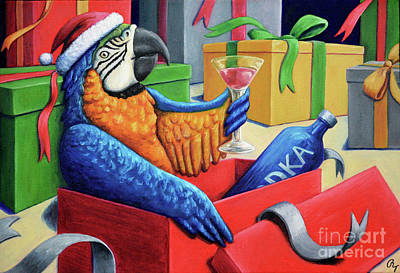 Painting - Drunk Macaw by Rebecca Tiano