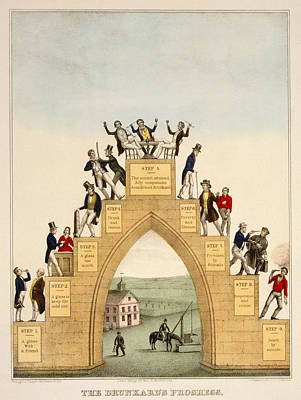 1846 Photograph - Drunkards Progress, 1846 by Granger