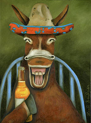 Painting - Drunken Dumb Ass by Leah Saulnier The Painting Maniac