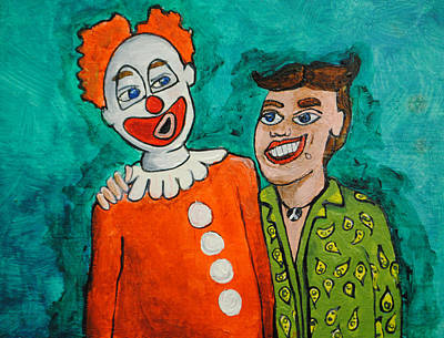 Tillie Painting - Drunken Pals by Patricia Arroyo