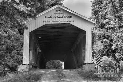 Photograph - Dry And Dusty At Conley's Ford Black And White by Adam Jewell