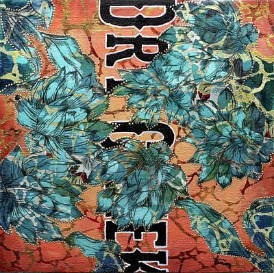 Silver Turquoise Mixed Media - Dry Creek Rd., Sedona Az by Jennifer Fleming