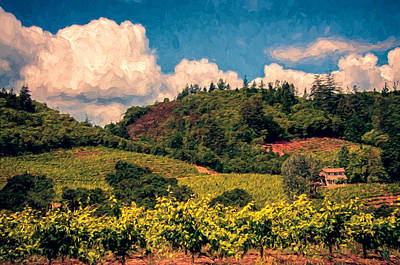 Hill Photograph - Dry Creek Valley by John K Woodruff