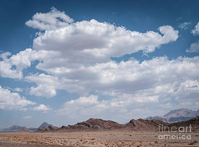 Mellow Yellow - Dry Desert Landscape View Near Yazd In Southern Iran by JM Travel Photography