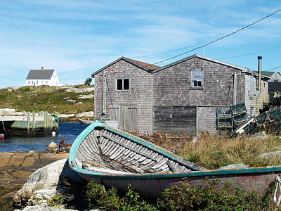 Dry Dock At Peggy's Cove Art Print by Richard Mansfield