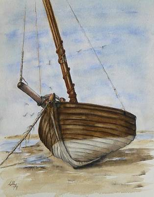 Painting - Dry Dock Boat by Kelly Mills