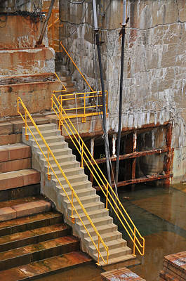 Photograph - Dry Dock Stairs by Mike Martin