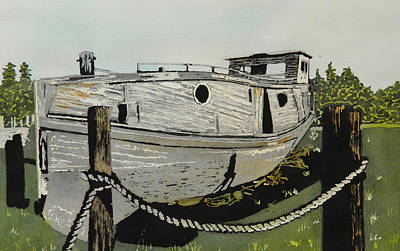 Painting - Dry Docked by Terry Honstead