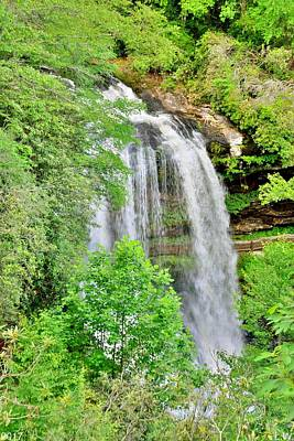 Photograph - Dry Falls Highlands North Carolina Vertical 2 by Lisa Wooten