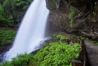 Photograph - Dry Falls In North Carolina In Spring by Ranjay Mitra