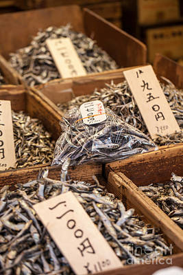 Icelandic Fish Photograph - Dry Fish In The Market In Japan by Mariusz Prusaczyk