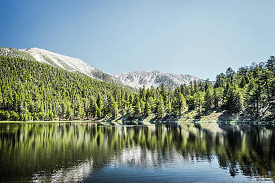 Photograph - Dry Lake And San Gorgonio by Alexander Kunz