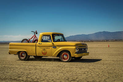 Dry Lake Racing Photograph - Dry Lake Ford Pickup by Project ThreeNinetyFive