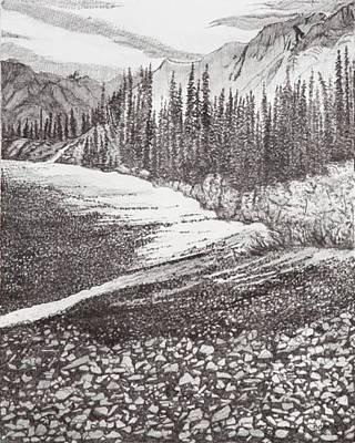 Dry Riverbed Art Print
