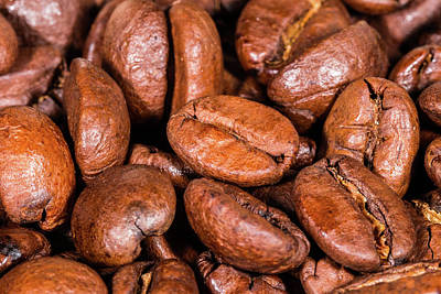 Photograph - Dry Roasted Coffee Beans by SR Green