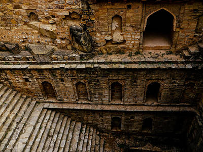 Photograph - Dry Step Well by M G Whittingham