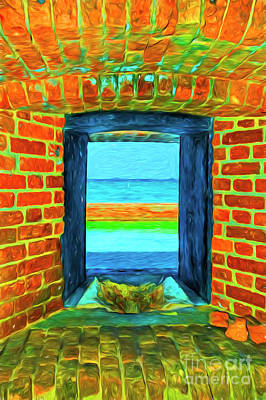 Photograph - Dry Tortugas Armory Window by Kay Brewer
