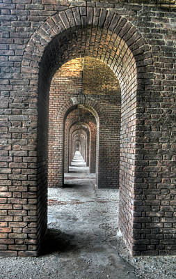 Photograph - Dry Tortugas - Fort Jefferson - Doorways by Timothy Lowry