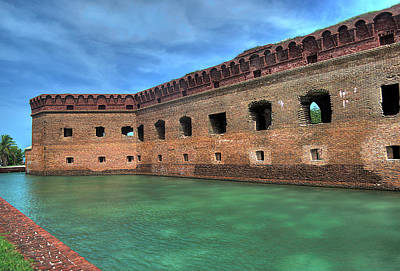 Photograph - Dry Tortugas - Fort Jefferson - Front by Timothy Lowry