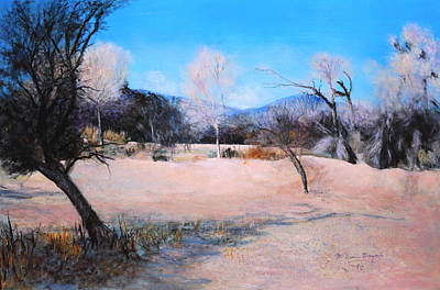 Painting - Dry Wash In Winter by M Diane Bonaparte